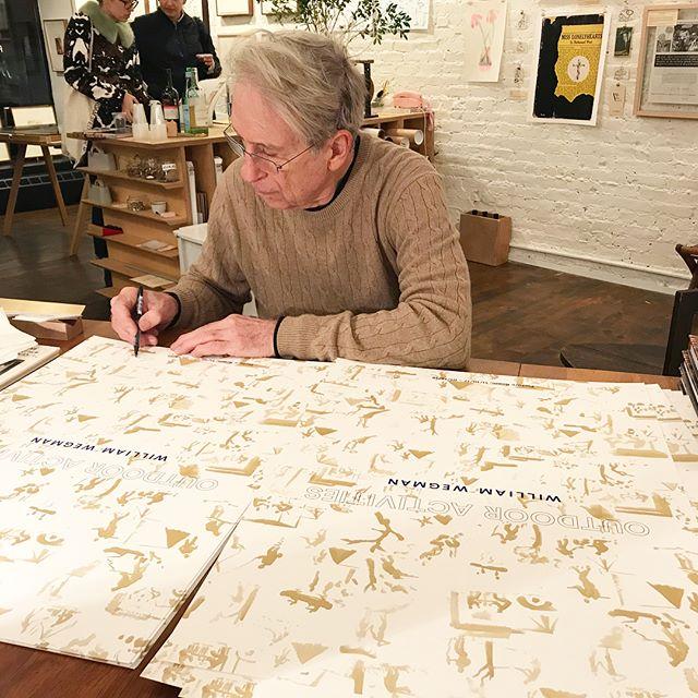 PICTURED: ARTIST WILLIAM WEGMAN AT PICTURE ROOM, 2017